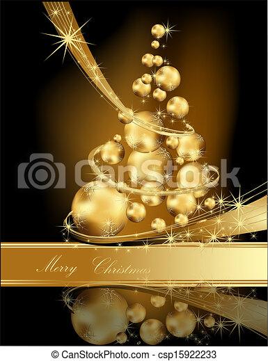 Gold Christmas Tree Made Of Balls
