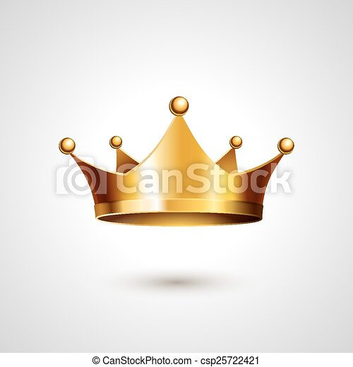 Gold Crown  Isolated On White Background - csp25722421