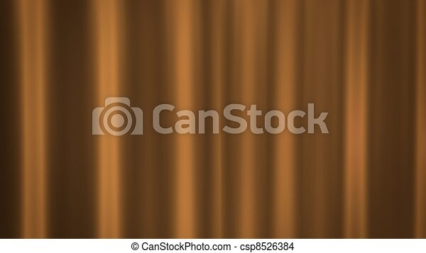 Gold Curtains Background For The Theatre Stock Illustration