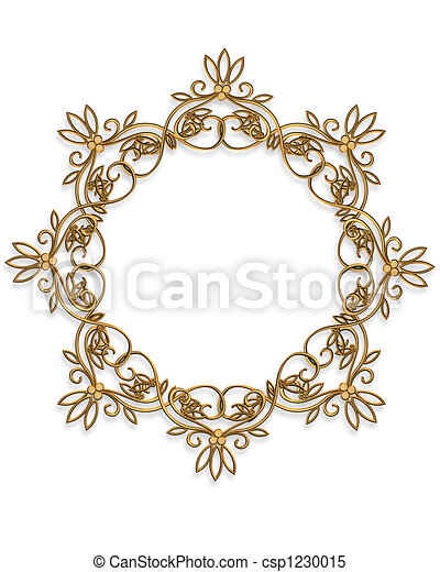 Gold Design element Frame round - csp1230015