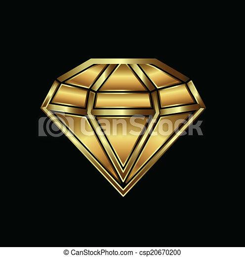 Gold diamond image logo - csp20670200