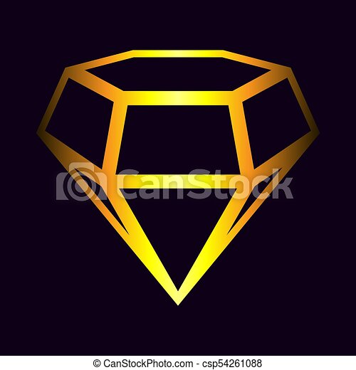 art clip vector diamond gold shiny jewel logo