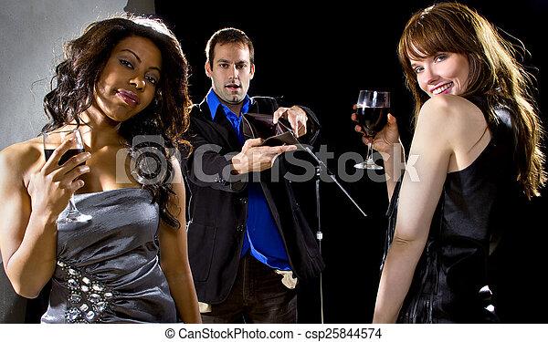 Gold Diggers at a Nightclub - csp25844574