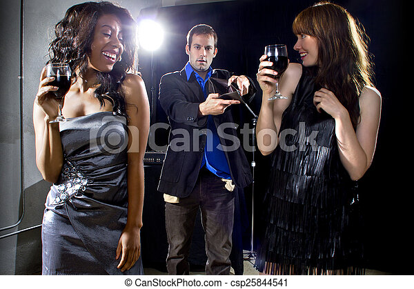 Gold Diggers at a Nightclub - csp25844541