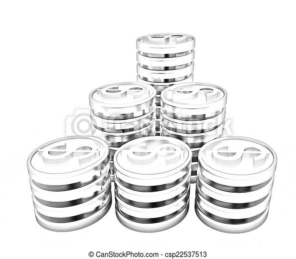 Gold dollar coins - csp22537513
