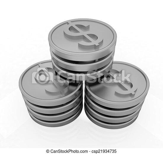 Gold dollar coins - csp21934735