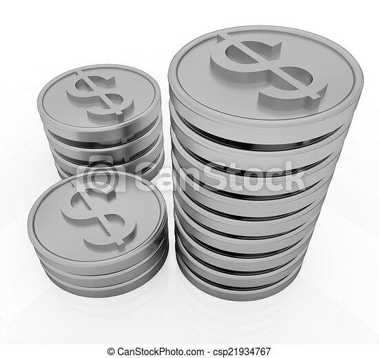 Gold dollar coins - csp21934767