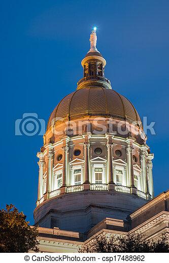 Gold dome of Georgia Capitol - csp17488962