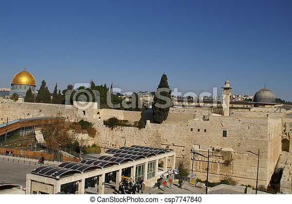 Gold Dome of the rock - csp7747840