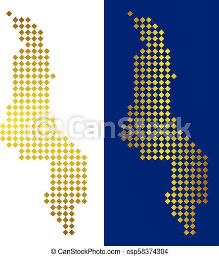 Gold Dot Malawi Map