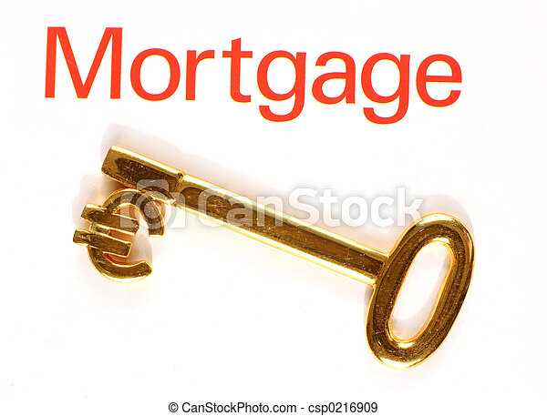 Gold Euro Mortgage Key A Gold Key With The Euro Currency Symbol And
