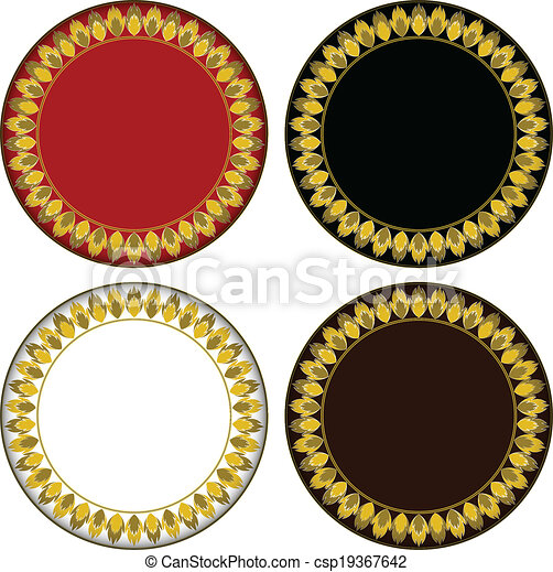 Gold fire circle frame. vector circle frame can be used for border ...