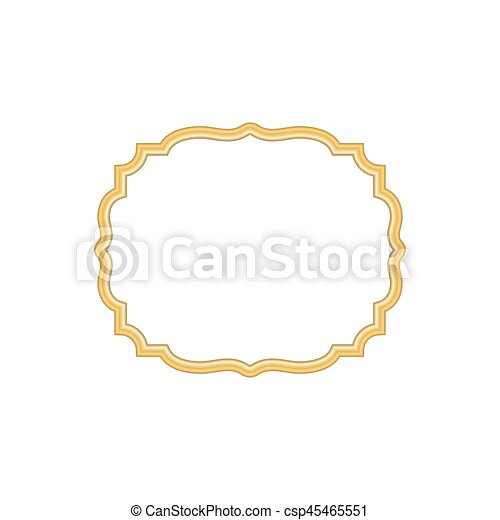 badccea54f5a Gold frame. beautiful simple golden design white. Gold frame ...