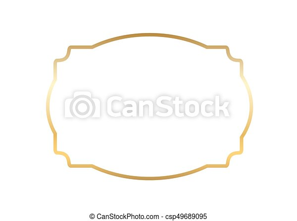 Beautiful Simple Line Art : Gold frame beautiful simple golden design eps