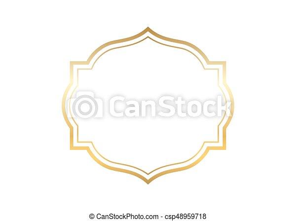 Beautiful Simple Line Art : Gold frame beautiful simple golden design vector