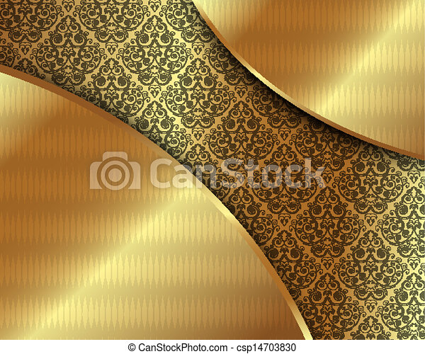 Gold frame with pattern 6 - csp14703830