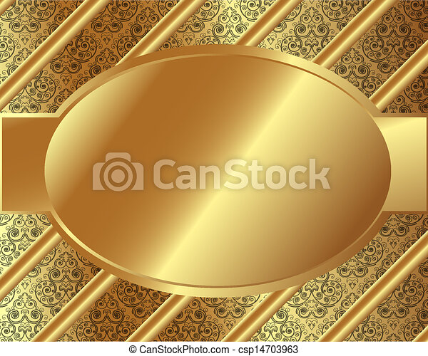 Gold frame with pattern 8 - csp14703963