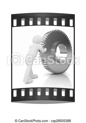 3d man from gold shows double thumbs up gesture. 3d illustration.