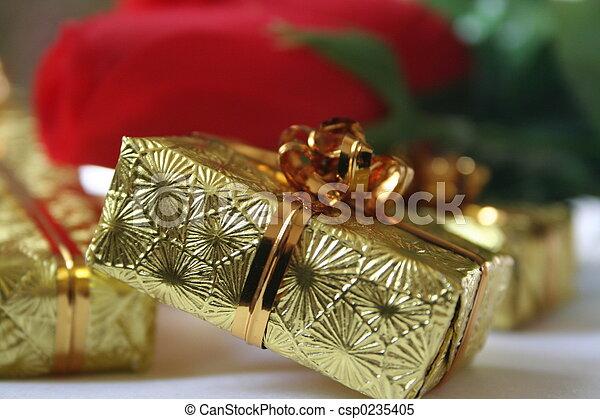 gold gift box II - csp0235405