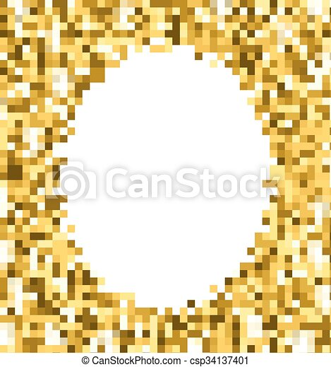 gold glitter background gold sparkle round frame template for