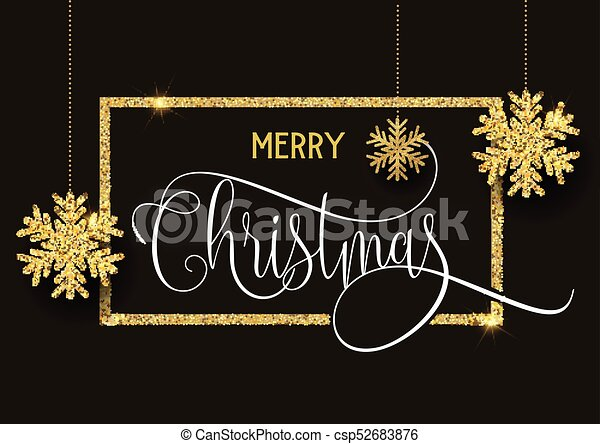 Gold glitter Christmas background - csp52683876