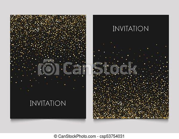 Gold glitter design invitation template golden background gold glitter design invitation template golden background luxury dust vector card invitation stopboris Image collections