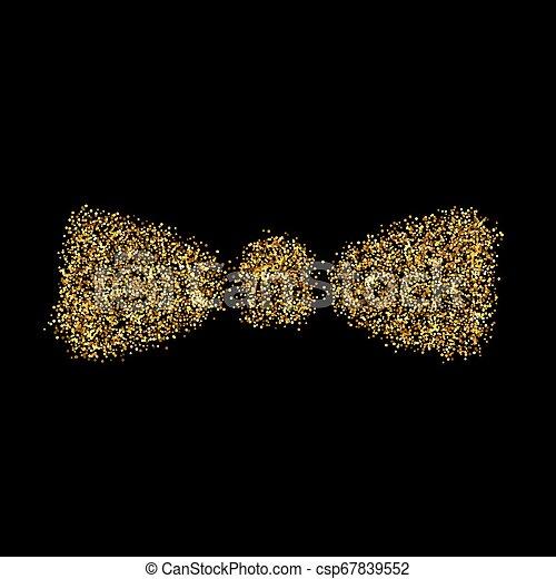 Gold glitter icon - csp67839552