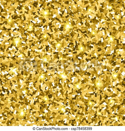 Gold Glitter Seamless Pattern - csp78458399