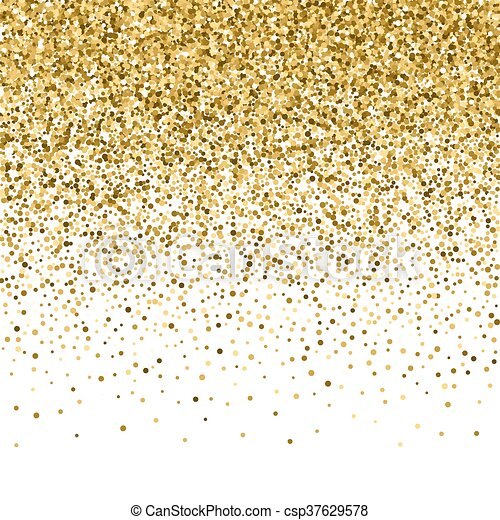 Gold glitter shine texture on a black background. Golden explosion of confetti. Golden abstract particles on a dark background. Isolated Holiday Design elements. Vector illustration. - csp37629578