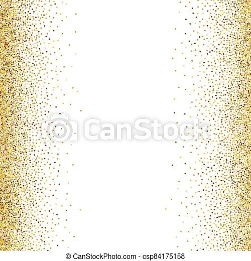 Gold glittery texture. Vector glitter golden background - csp84175158