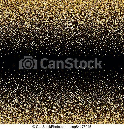 Gold glittery texture. Vector glitter golden background - csp84175045