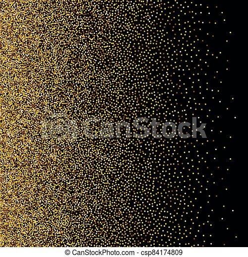 Gold glittery texture. Vector glitter golden background - csp84174809