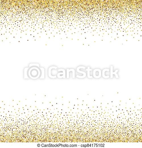 Gold glittery texture. Vector glitter golden background - csp84175102