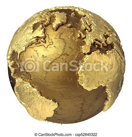 Gold globe atlantic ocean golden globe model without water clip gold globe atlantic ocean csp52840322 publicscrutiny Choice Image