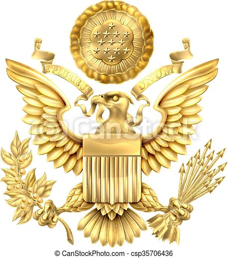 Gold Great Seal of the United States - csp35706436
