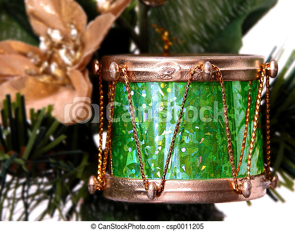 Gold & Green Drum - csp0011205