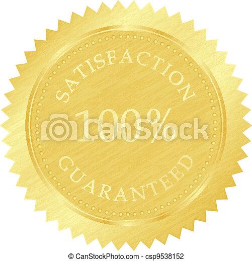 gold guarantee stamp - csp9538152