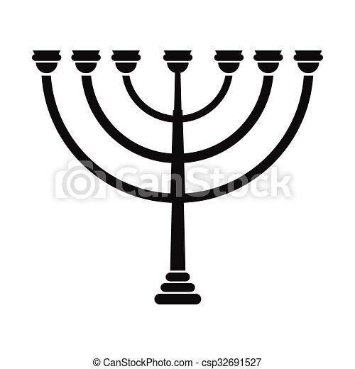 gold hanukkah menorah simple icon isolated on white vector rh canstockphoto com cartoon menorah clipart menorah clip art free