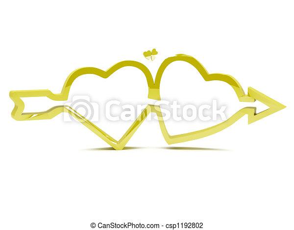 Gold hearts - csp1192802
