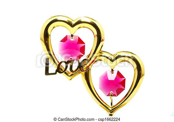 gold hearts  - csp1662224