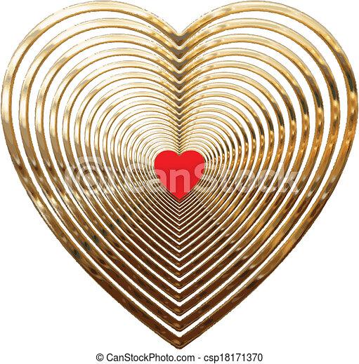 GOLD HEARTS - csp18171370