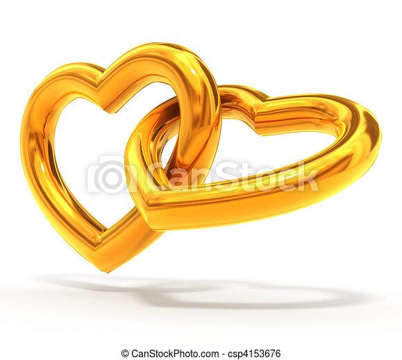 gold hearts - csp4153676