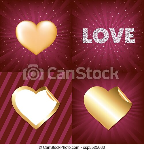Gold Hearts - csp5525680