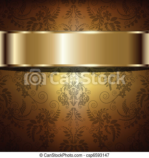 gold, hintergrund - csp6593147