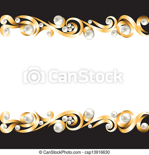 Background with gold jewelry frame vectors Search Clip Art
