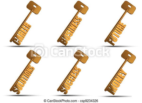 gold key set - csp9234326