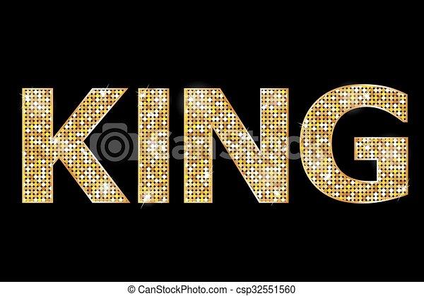 gold king text - csp32551560