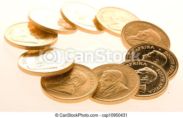 Gold Krugerrand Coins - csp10950431