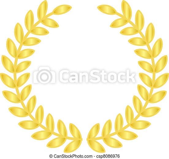gold laurels - csp8086976