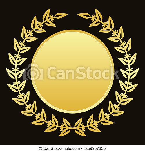 gold laurels - csp9957355